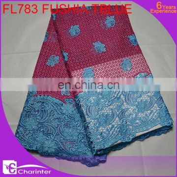 Hot sale african lace fabric guipure lace fabric cheap cord lace for sale