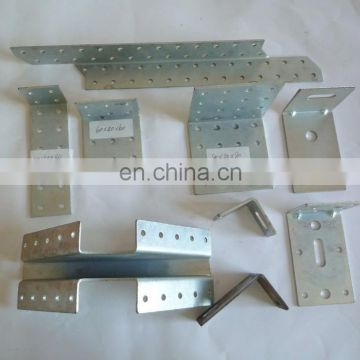 custom aluminum shaped hole punches hydraulic metal bending zinc plating bracket
