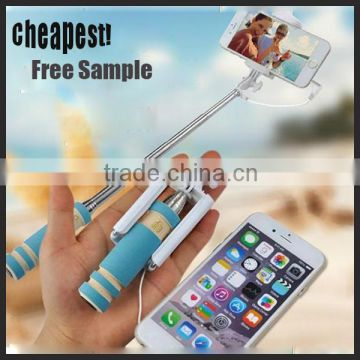 Best Price High Quality Flexible Tripod Type and Aluminum Material cable Monopod Bluetooth Selfie Stick for iphone6