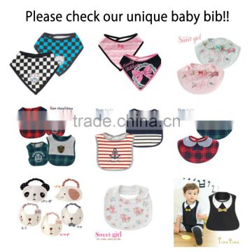 Japan wholesale high quality 2pcs set cool printed new style baby bibs with waterproof for boy