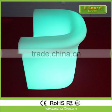PE plastic glowing led sofa plastic lighting sofa