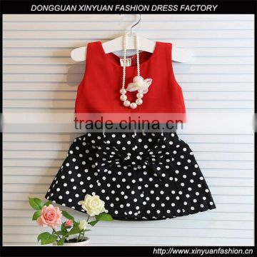 17dbb45d0a2 Wholesale Girls Latest Party Wear Suits Design For Baby Kids Boutique  Clothing Chiffon Tops + Polka Dot Skirts 2pcs Sets of Children Clothing  from China ...
