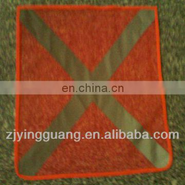 Safety Flag With X Shape Silver Tape Made In Mesh Fabric