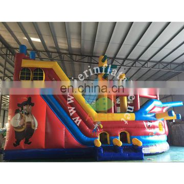 Hot giant inflatable bouncy castle cartoon pirate ship castle toy kids jumping castle for sale