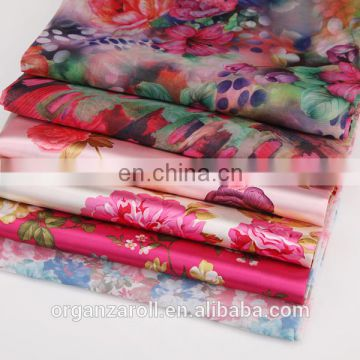 2016 Chinese silk organza kinds of organza chiffon fabric
