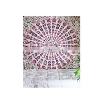 Attractive and stylish look designer custom printed mandala Indian tapestry