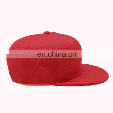 Wholesale Fashion Structured Custom Promotion Plain Flat Brim Cotton Baseball Cap