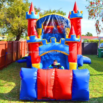Customized Inflatable royal bouncy Castle with slide for sale