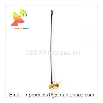 433Mhz omnidirectional outdoor external antenna straight spring pole maternal right angle SMA male