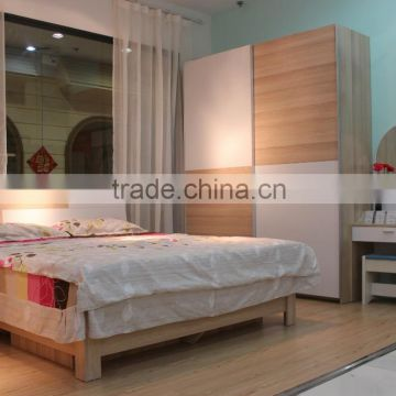 China Manufacturer Modern 3 Piece Bedroom Furniture Set   Wardrobe,  Dressing Table , Bed( ...