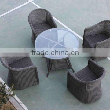 Cheap and fashion Outdoor Rattan Dining Set with 4chair and 1 KD table