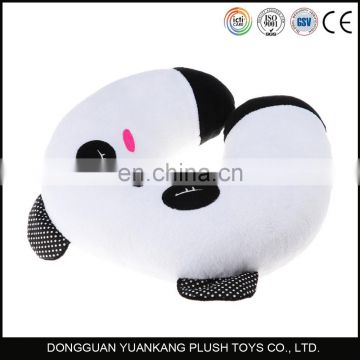 Micro beads filled animal panda soft U shaped travel neck pillow
