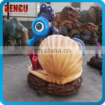 Playground Equipment Fiberglass Cartoon Hippocampus
