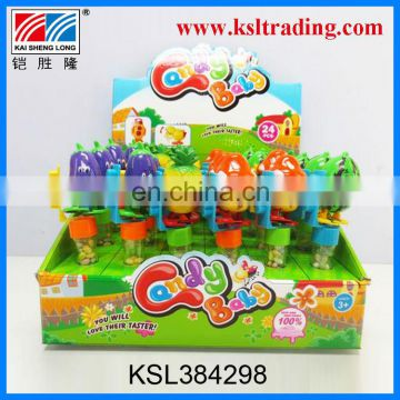 24PCS plastic wind up fruit candy toy manufactory