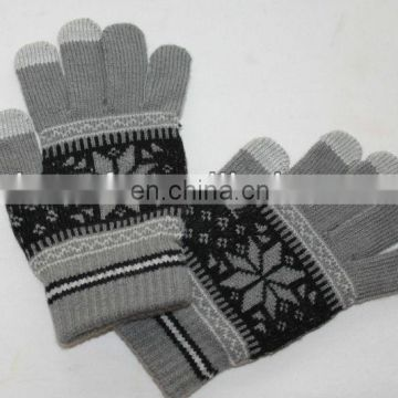 2013 fashion warm customized touch screen gloves for Smartphones and Tablets PC (JDG-S5A)