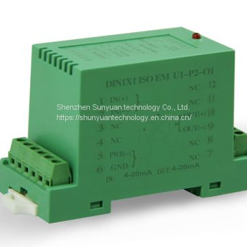 DC Current/Voltage 4-20mA/0-5V/0-10V Isolation Transmitter DIN1X1 Isoem-A8- P1- O1