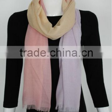 Acrylic Pink Beige Purple Gadient Color Scarf