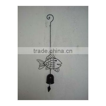fish metal doorbell for garden decoration