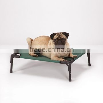 Metal frame and high density durable polyethylene fabric luxury elevated hammock foldable dog bed