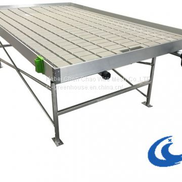 High  Quality Greenhouse/Agricultural System Table Ebb And Flow Rolling Benches( with gray/white tray)