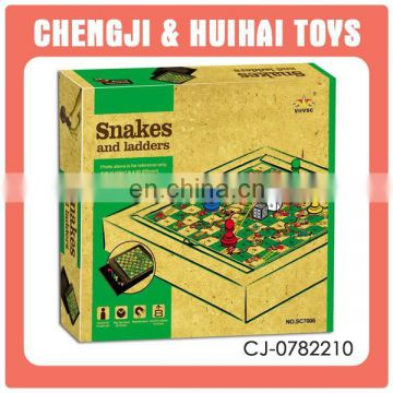 2015 new style plastic funny snake and ladder board game intelligent magnetic game set toy