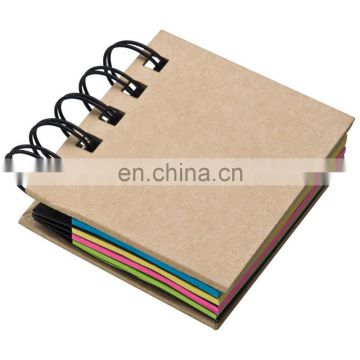 spiral notepad with memo sticky note paper NOTEBO910