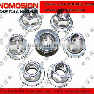 DIN6926 prevailing torque type hexagon nuts with flange(with non-metallic insert) DS/EN 1663 flange nut with nylon