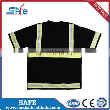 Comfortable high visibility yellow safety shirts