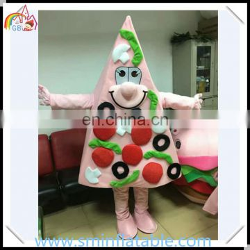 Attractive pizza mascot costume, delicious piece pizza food moving costume, plush fancy dress for adult
