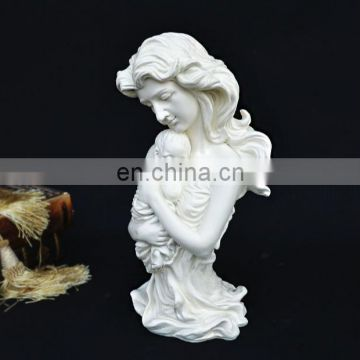 unpaid resin mother with baby statue