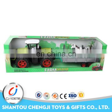 China manufacture concrete pump truck model toys friction truck friction farm tractor toy