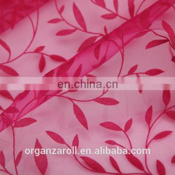 pattern diversity flocked organza fabric for decoration