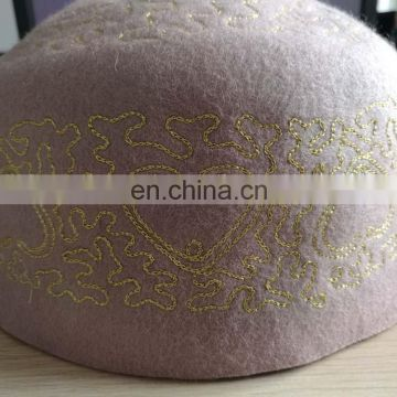 New product women and men embroidery wool muslim hat