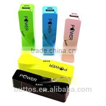 2200mah Promotional Twitch Shape Perfume mobile charger with key chain
