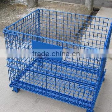 Collapsible wire box/Stackable Warehouse Storage Metal Basket/Wire Mesh Box/Collapsible Warehouse pallet