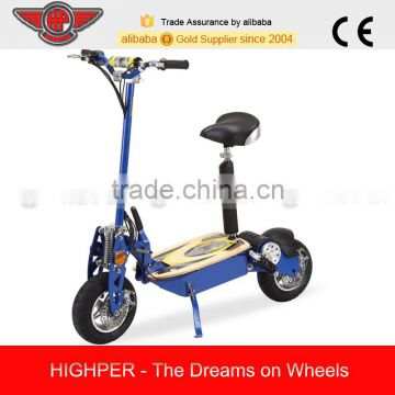 2015 NEW 1300W 48V Brushless 2 Wheel 12'' tire Electric Scooter with Seat HP107E-C