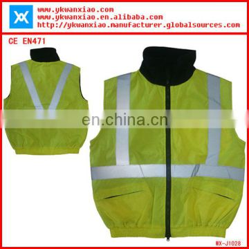 reflective safety coverall with sealing and waterproof