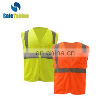 High quality practical fluorescent stripes colorful professional style vest