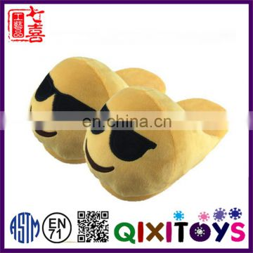 Best selling cheap soft warm cozy indoor emoji slippers with adult and children size
