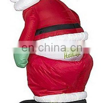 Inflatable Animated Mooning Santa