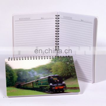 lenticular manufacturer custom spiral notebook with subject dividers with high quality