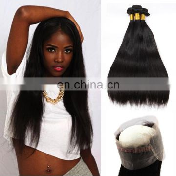 wholesale virgin hair vendors 360 lace frontal with bundles pre pluck 360 lace frontal closure with baby hair