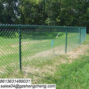 Easily assemble perimeter of house and garden used chain link border fence