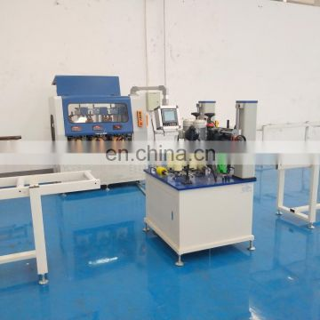 PA thermal break aluminium profile assembly production line_crimping machine