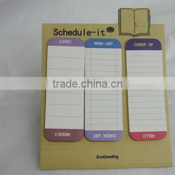 full color custom post notes slim cube,post note with sticky,rabit shaped sticky notes