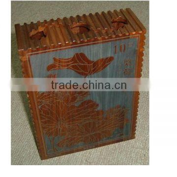 Customized luxury wooden coin box