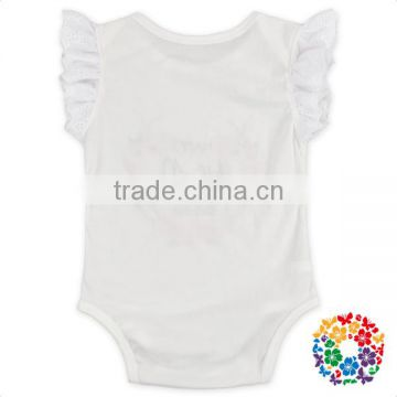 26db1bf79e31 Summer Cotton One Piece Infant Romper Plain White Ruffle Flutter Sleeve  Baby Girls Rompers of Baby Rompers from China Suppliers - 144010512