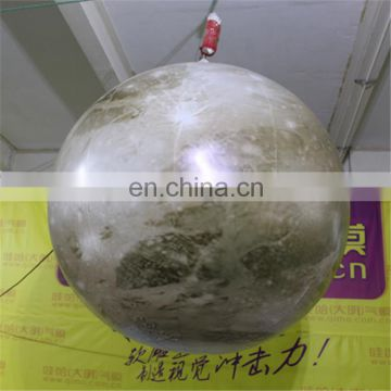 Shiny giant inflatable LED moon balloon for advertising & event
