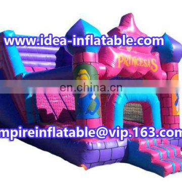 beautiful princess inflatable combo bouncy castle ID-CB098