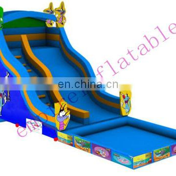 2015 new fashion commercial inflatable water slide with pool WS056